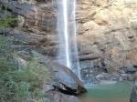 The base of Toccoa Falls